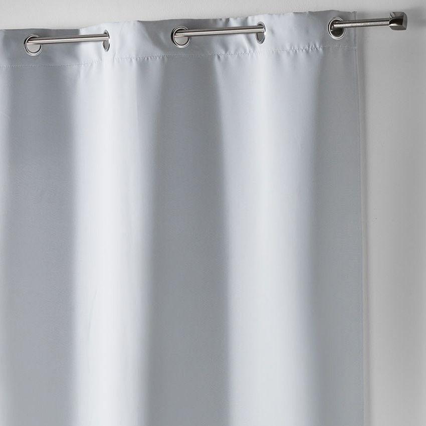 rideau occultant 140 x h180 cm uni gris clair rideau. Black Bedroom Furniture Sets. Home Design Ideas