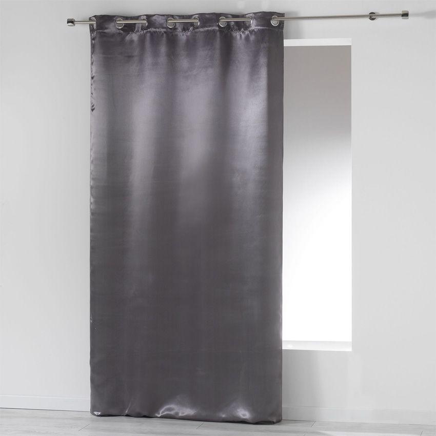 rideau occultant 140 x h260 cm satina anthracite. Black Bedroom Furniture Sets. Home Design Ideas