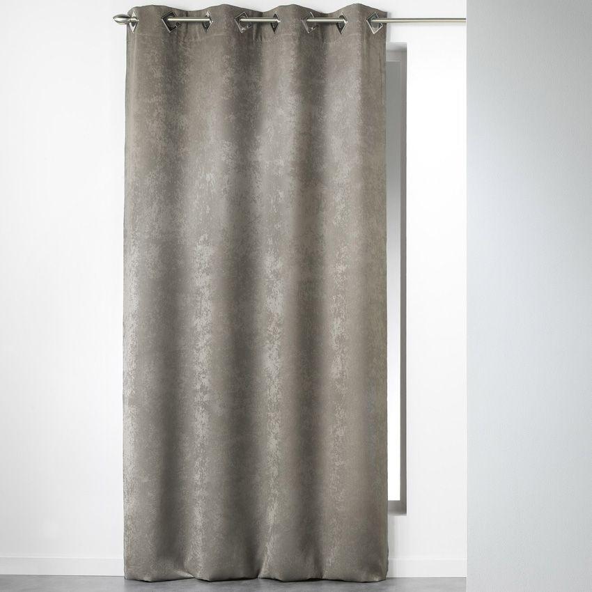 rideau 140 x h240 cm velours cabaret taupe rideau. Black Bedroom Furniture Sets. Home Design Ideas