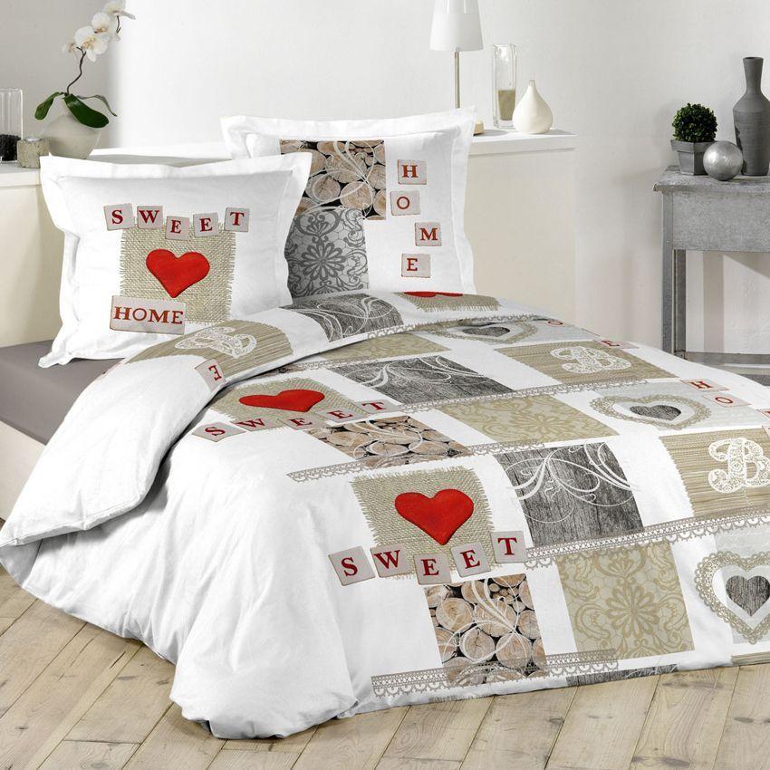 housse de couette et deux taies 260 cm sweety love. Black Bedroom Furniture Sets. Home Design Ideas