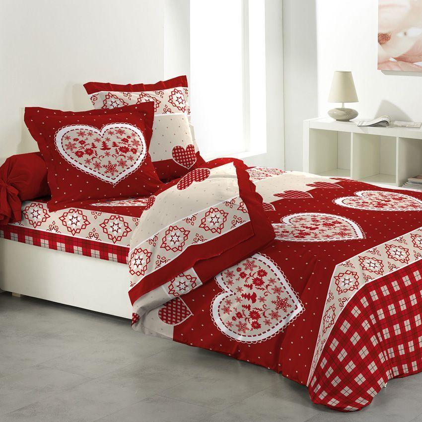 parure de draps 4 pi ces love today parure de draps eminza. Black Bedroom Furniture Sets. Home Design Ideas