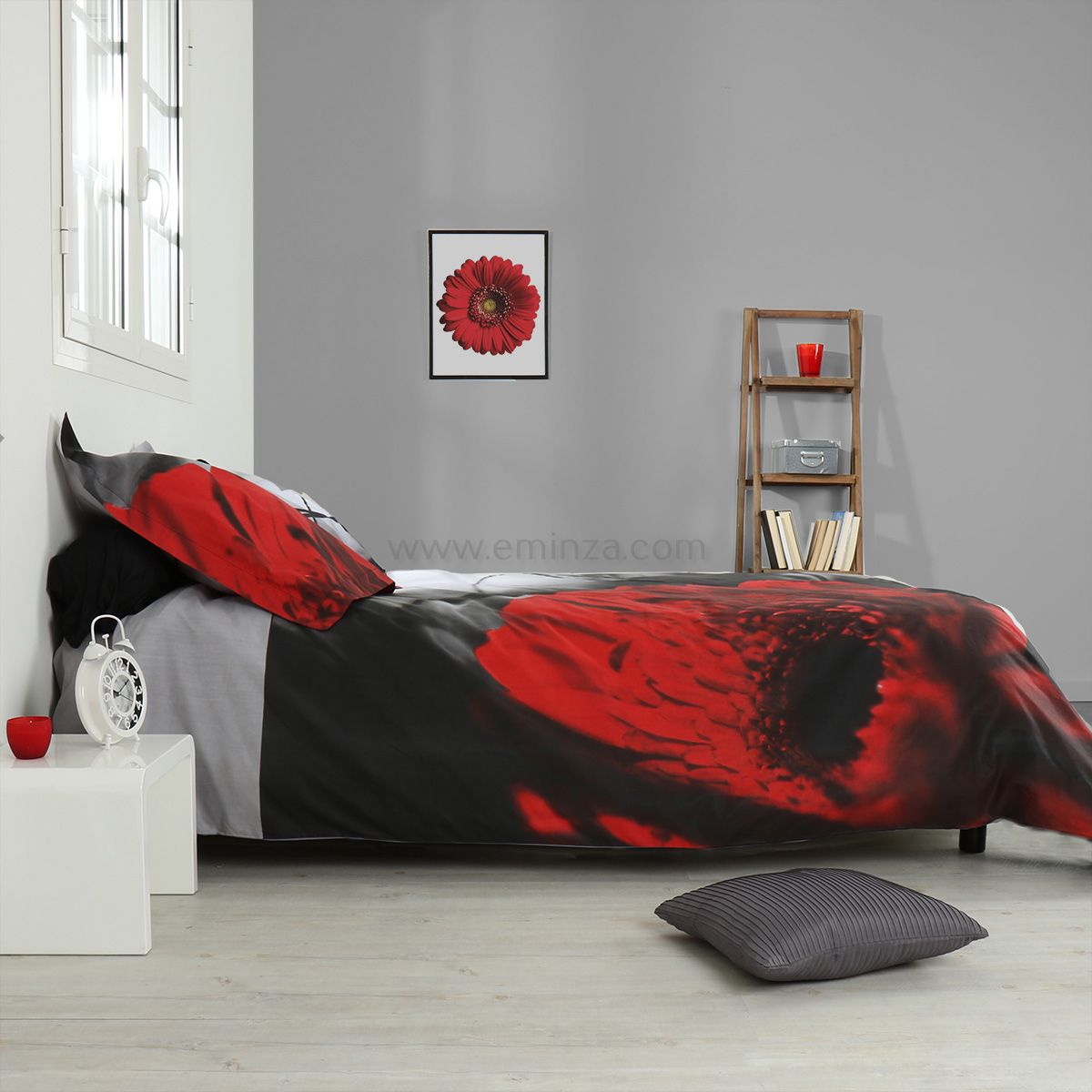 housse de couette et une taie 140 cm pivoina housse de couette eminza. Black Bedroom Furniture Sets. Home Design Ideas