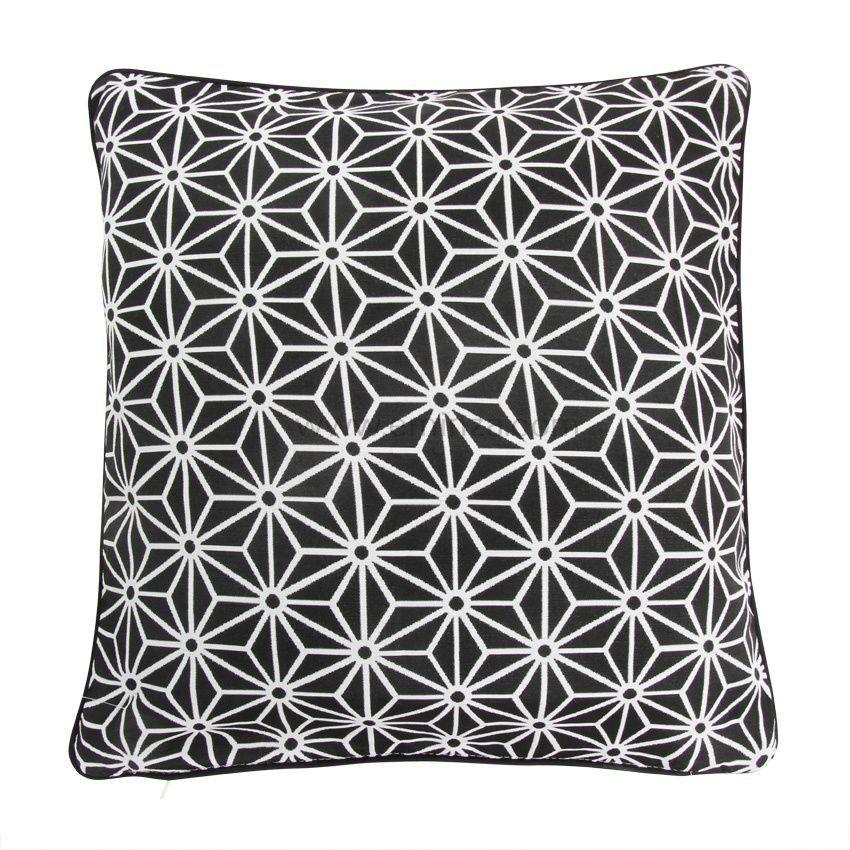 housse de coussin cristal noir coussin et housse de coussin eminza. Black Bedroom Furniture Sets. Home Design Ideas