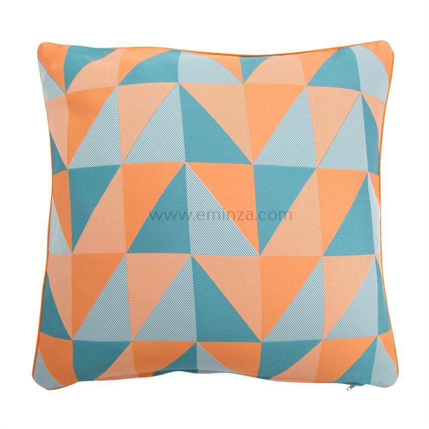 housse de coussin tangram orange housse de coussin eminza. Black Bedroom Furniture Sets. Home Design Ideas