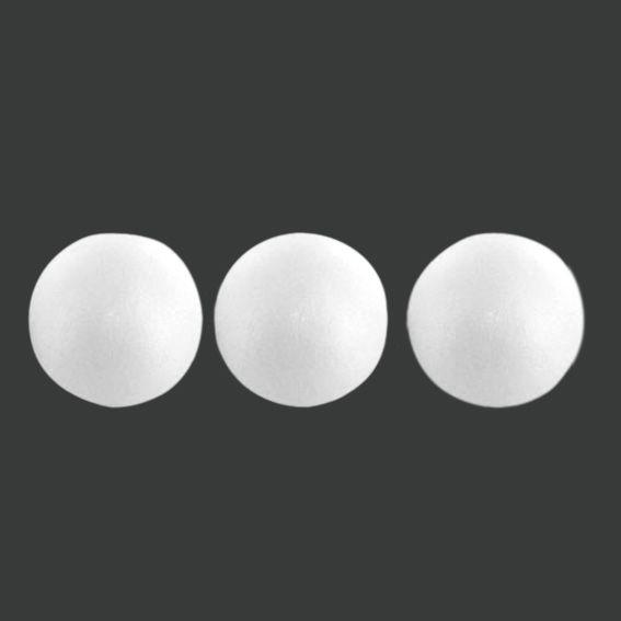 Lot de 3 boules pilla en polystyr ne supports d corer for Boule polystyrene a decorer