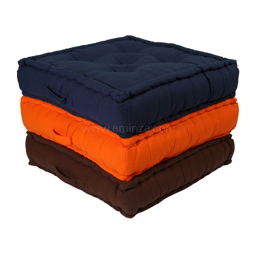 grand coussin de sol 60 cm etna bleu marine coussin de sol et pouf eminza. Black Bedroom Furniture Sets. Home Design Ideas