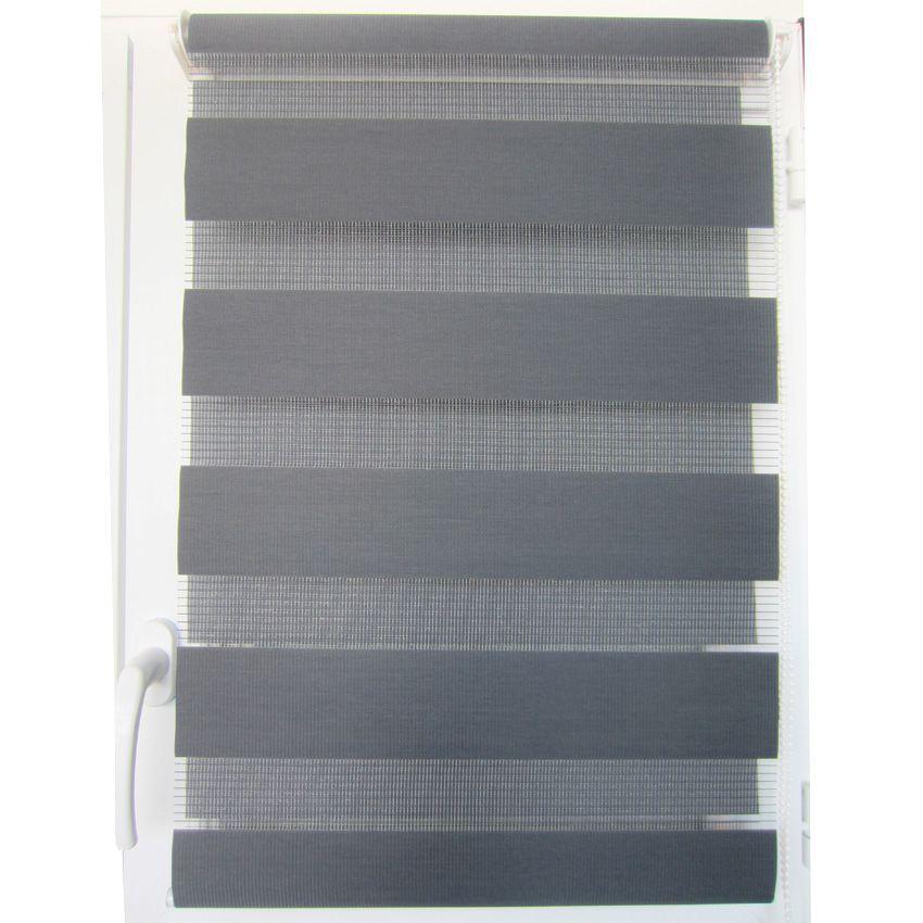 store enrouleur jour nuit 45 x h90 cm gris store enrouleur jour nuit eminza. Black Bedroom Furniture Sets. Home Design Ideas