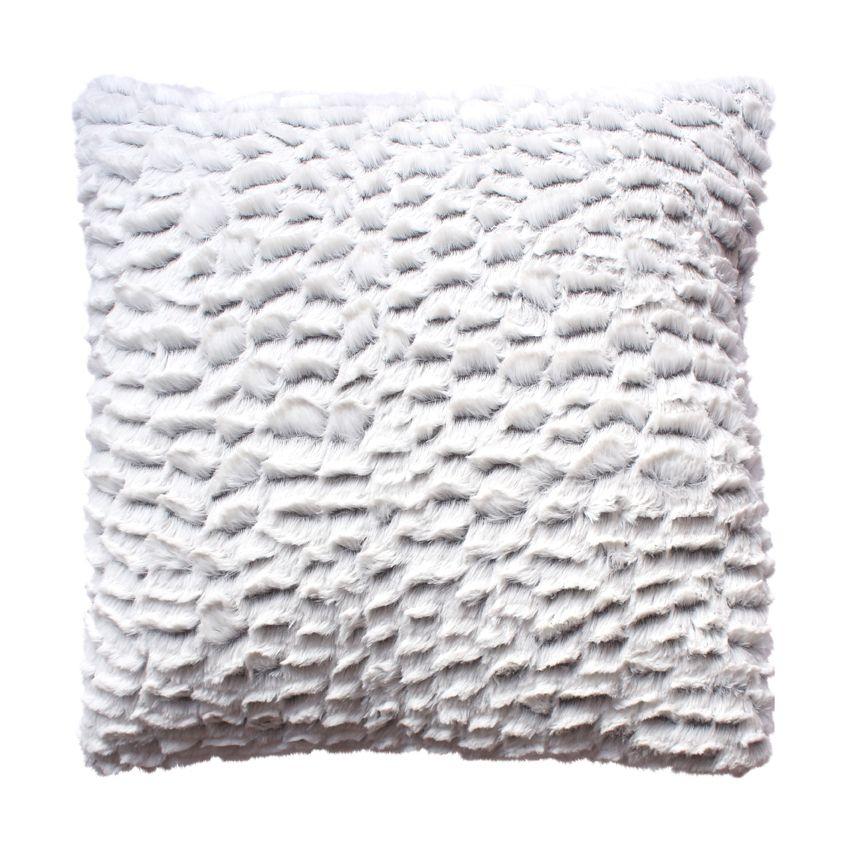 coussin fausse fourrure 40 cm toudou gris coussin eminza. Black Bedroom Furniture Sets. Home Design Ideas