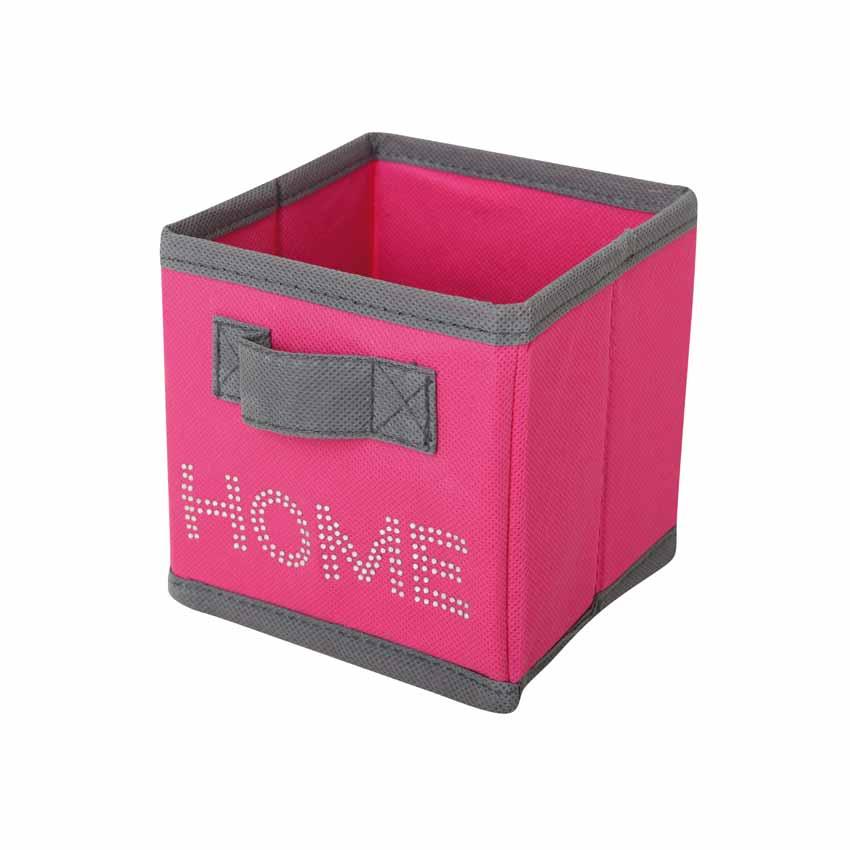 petit panier de rangement home fuchsia panier d co eminza. Black Bedroom Furniture Sets. Home Design Ideas