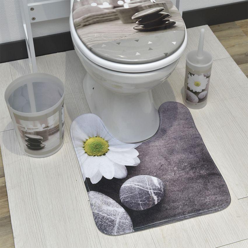 Tapis contour wc zen garden tapis contour wc eminza for Tapis salle de bain zen
