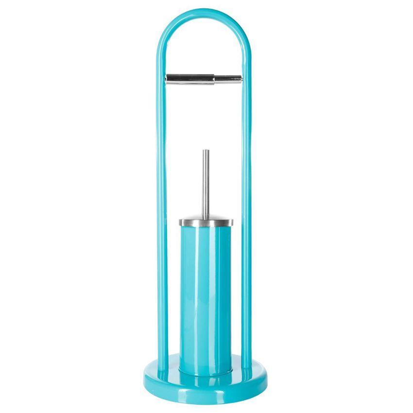 porte papier et brosse de toilettes funny turquoise kit wc eminza. Black Bedroom Furniture Sets. Home Design Ideas