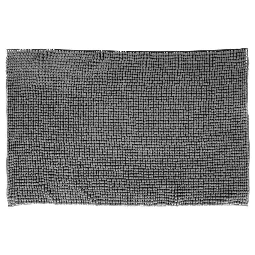 Tapis de bain chenille gris tapis salle de bain eminza - Tapis salle de bain gris ...