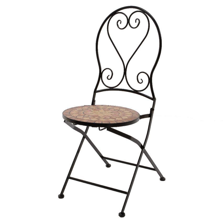 Lot de 2 chaises de jardin pliantes mosa que valentine for Chaises pliantes de jardin