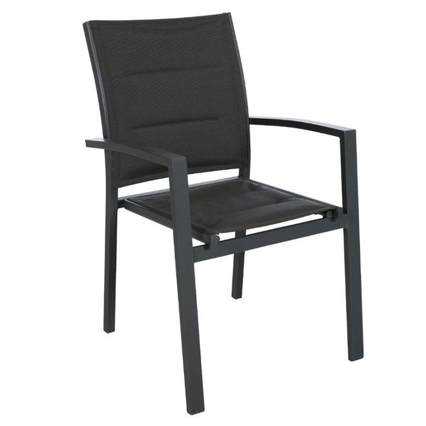 fauteuil de jardin empilable azua graphite chaise et fauteuil de jardin eminza. Black Bedroom Furniture Sets. Home Design Ideas