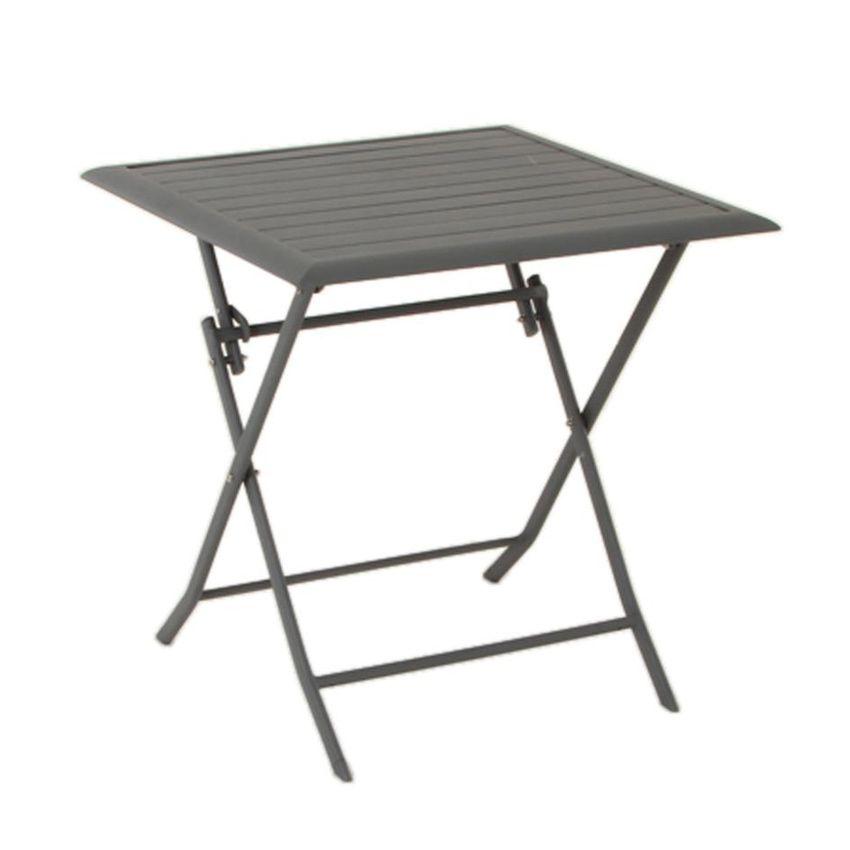 table de jardin pliante aluminium azua 71 x 71 cm ardoise table de jardin eminza. Black Bedroom Furniture Sets. Home Design Ideas