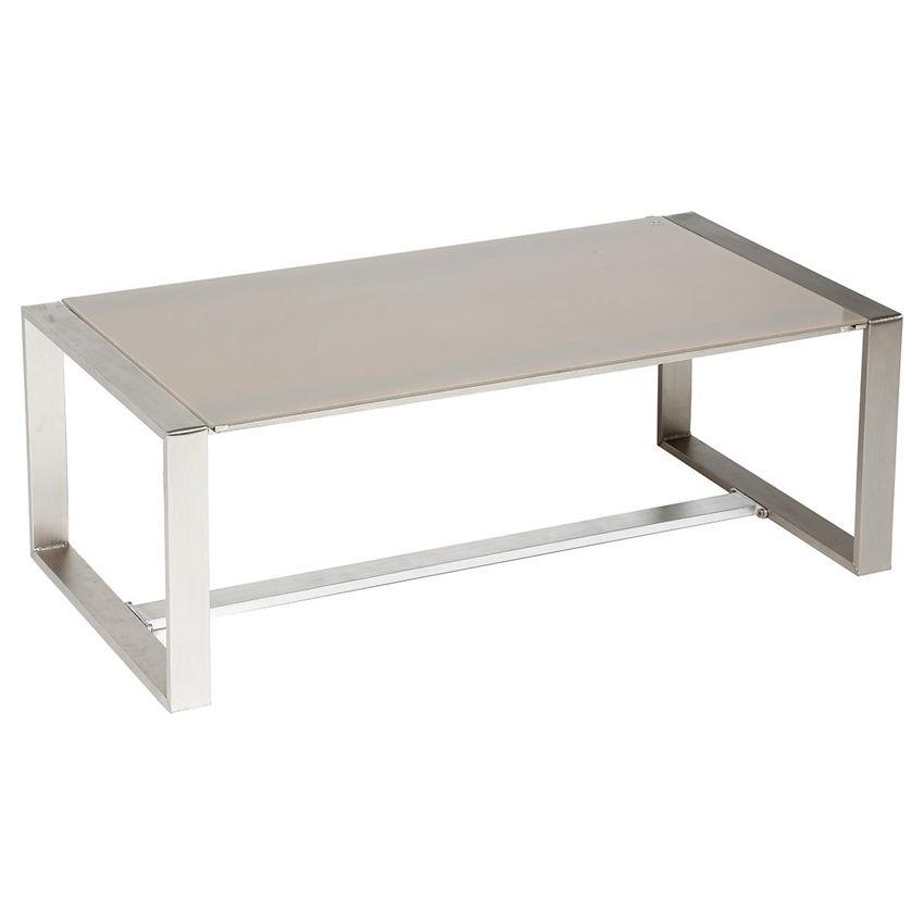 Table basse de jardin sesimbra taupe salon de jardin for Table basse taupe