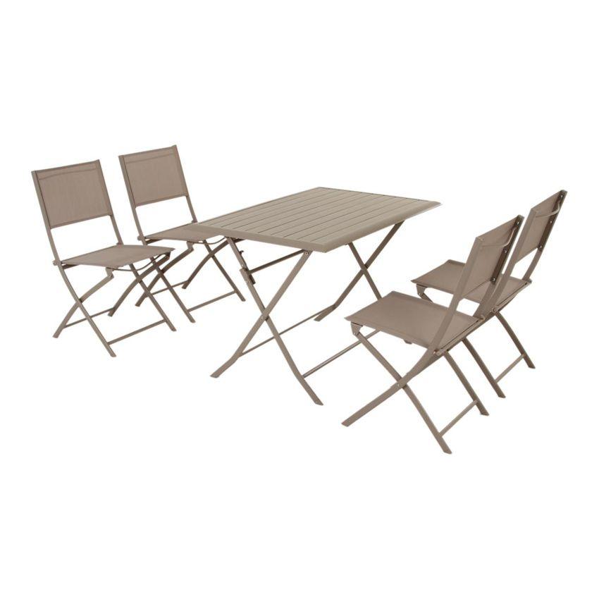 Table De Jardin Pliante Aluminium Azua 110 X 71 Cm