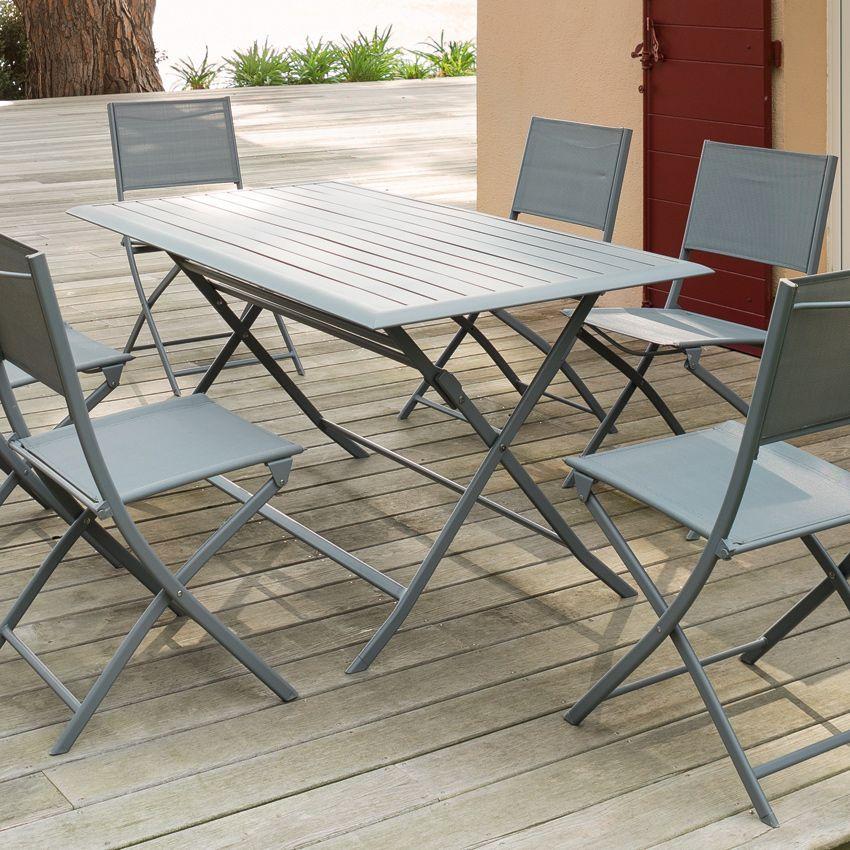 table de jardin pliante aluminium azua 150 x 80 cm. Black Bedroom Furniture Sets. Home Design Ideas