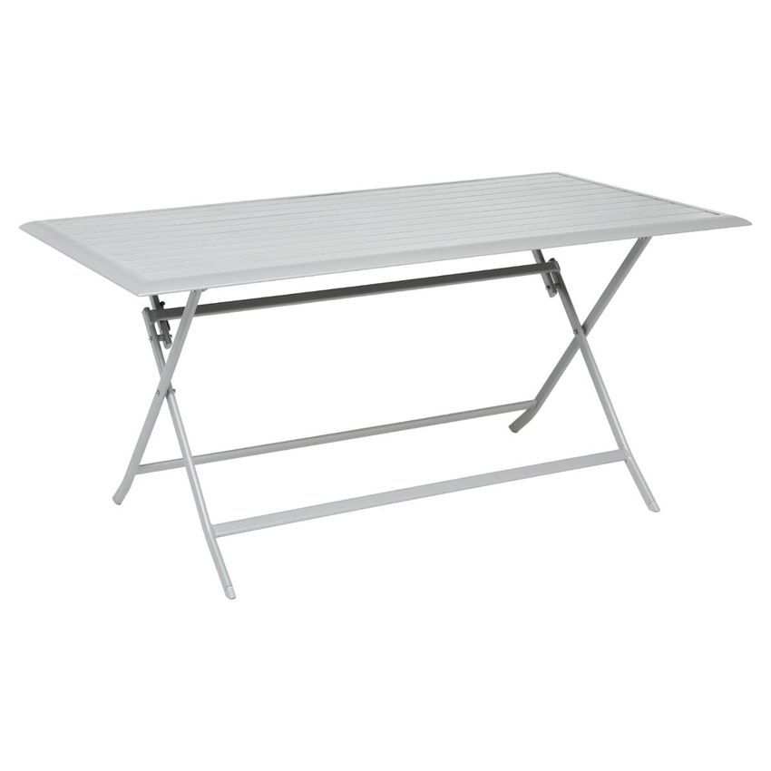 Table de jardin pliante aluminium azua 150 x 80 cm silver mat table de jardin eminza - Table pliante aluminium ...