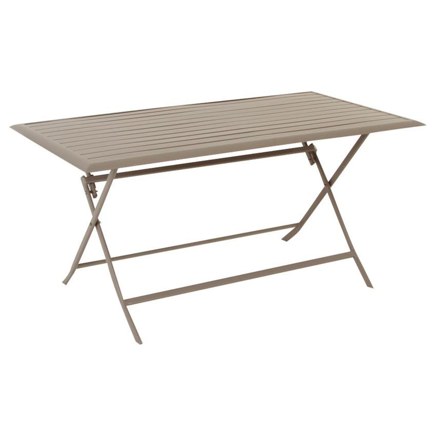 Table de jardin pliante aluminium azua 150 x 80 cm taupe table de jardin eminza - Table pliante aluminium ...