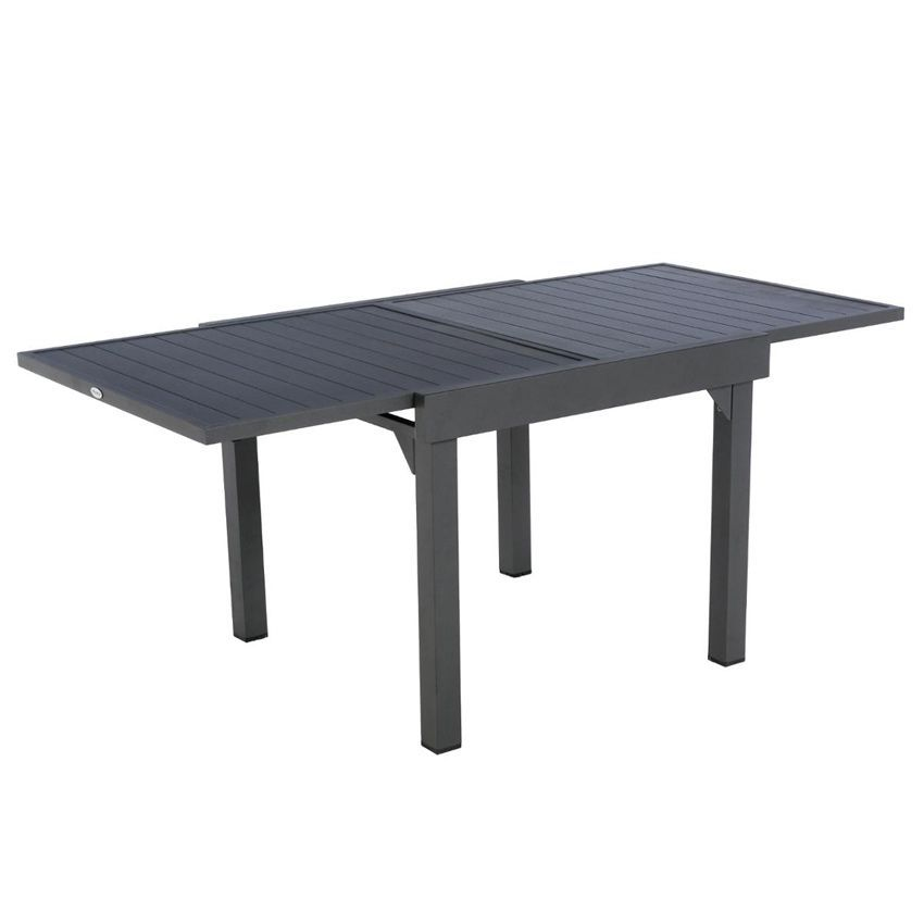 Table de jardin extensible aluminium piazza 180 x 90 cm for Table extensible allure gris poivre graphite