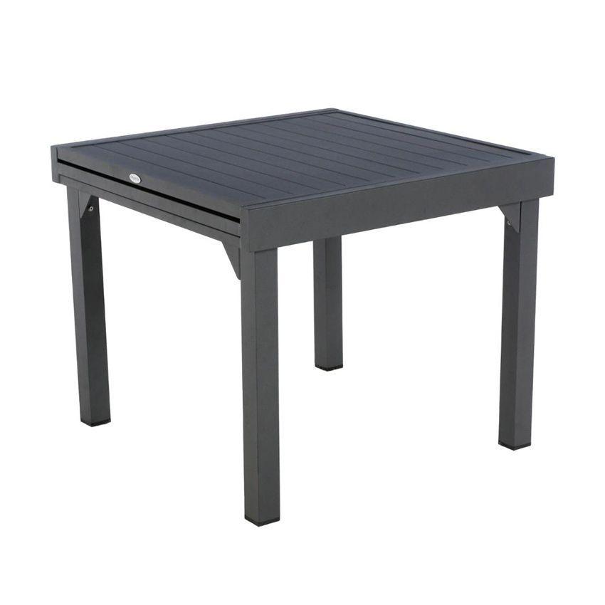 Table de jardin extensible aluminium piazza 180 x 90 cm graphite table de jardin eminza - Table de jardin extensible aluminium ...