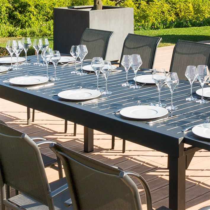 table de jardin extensible aluminium piazza max 300 cm. Black Bedroom Furniture Sets. Home Design Ideas