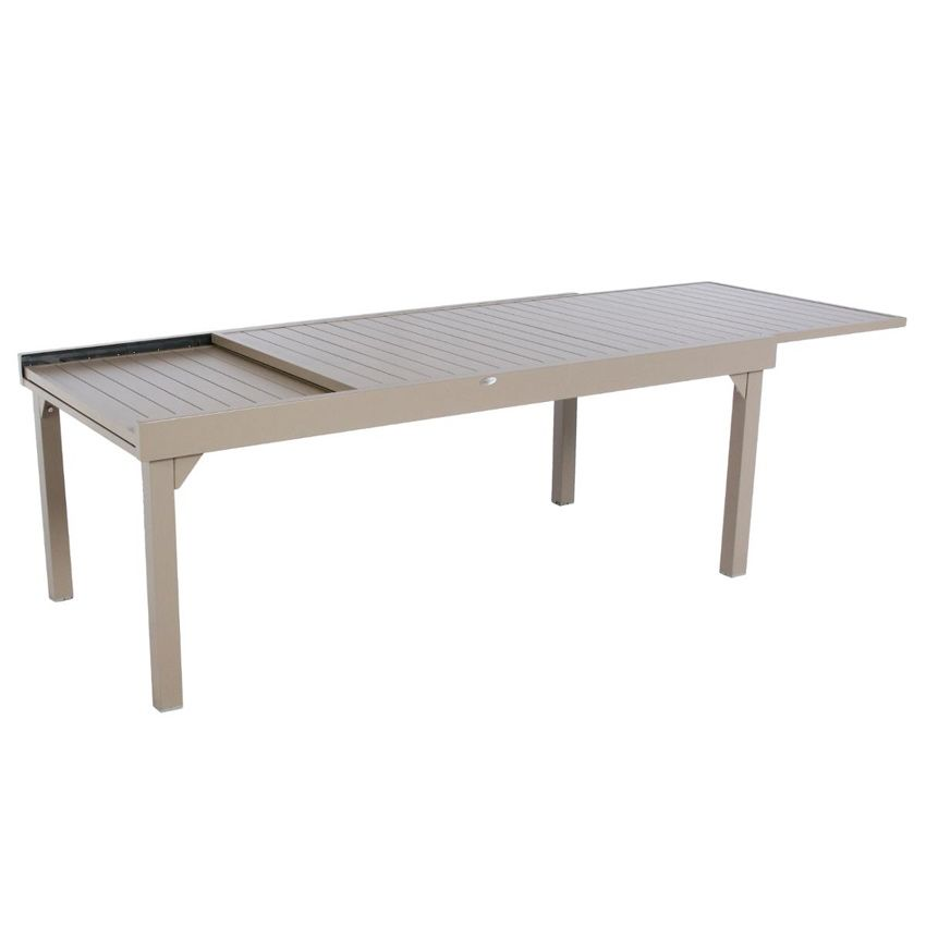 Table de jardin extensible aluminium piazza max 300 cm for Table extensible 300 cm