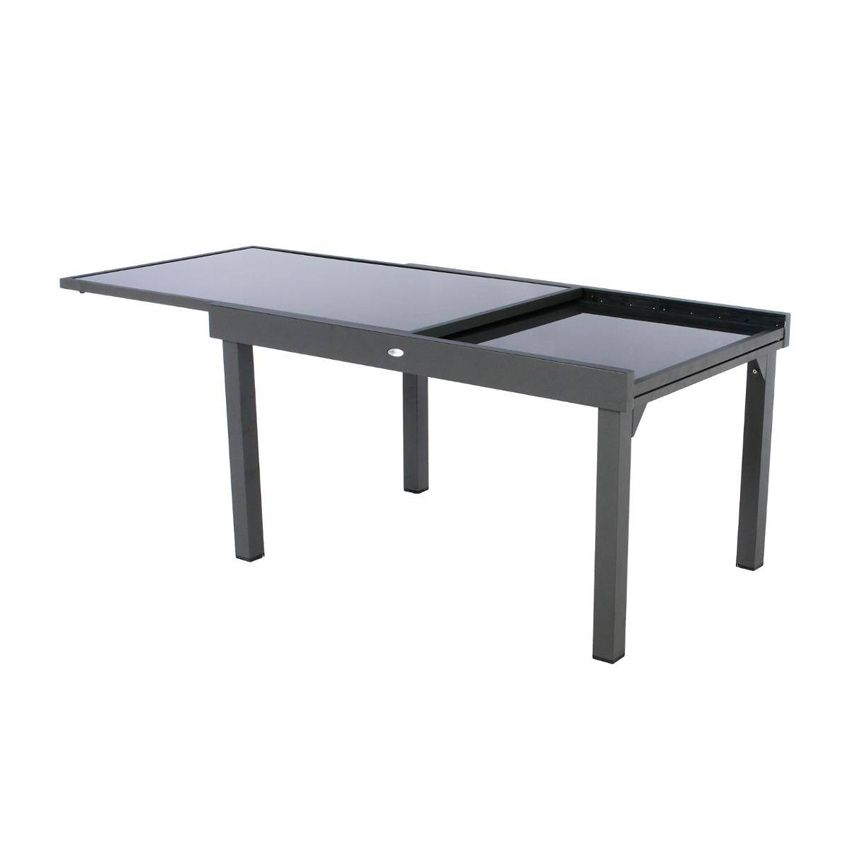 Salon de jardin piazza anthracite graphite 6 10 for Salon de jardin 2 personnes