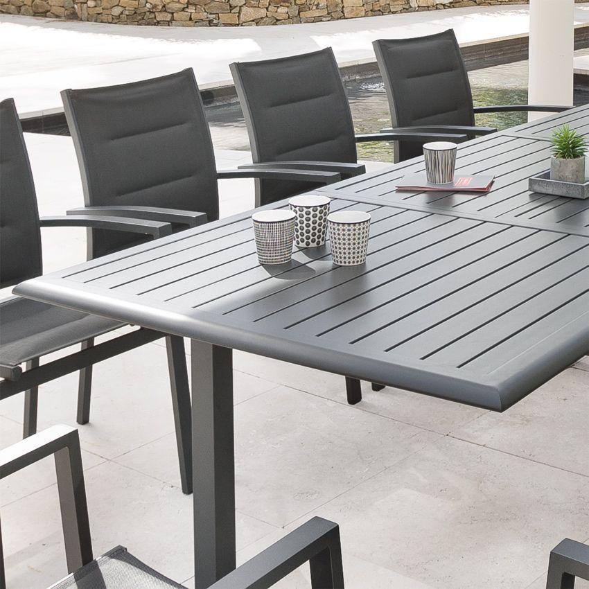 table de jardin extensible aluminium azua max 300 cm. Black Bedroom Furniture Sets. Home Design Ideas