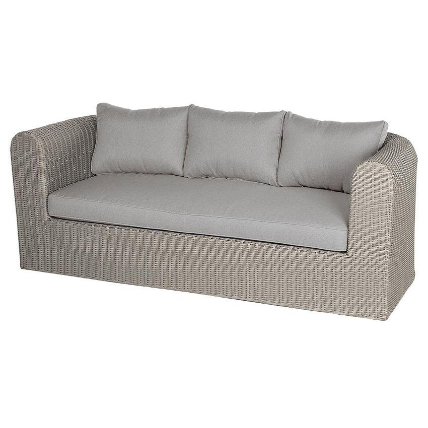 canap de jardin 3 places libertad sable gris clair salon de jardin d tente eminza. Black Bedroom Furniture Sets. Home Design Ideas