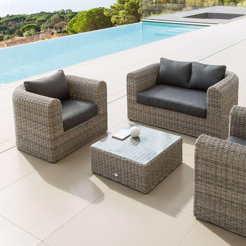 salon de jardin libertad sepia gris anthracite 4 places salon de jardin eminza. Black Bedroom Furniture Sets. Home Design Ideas