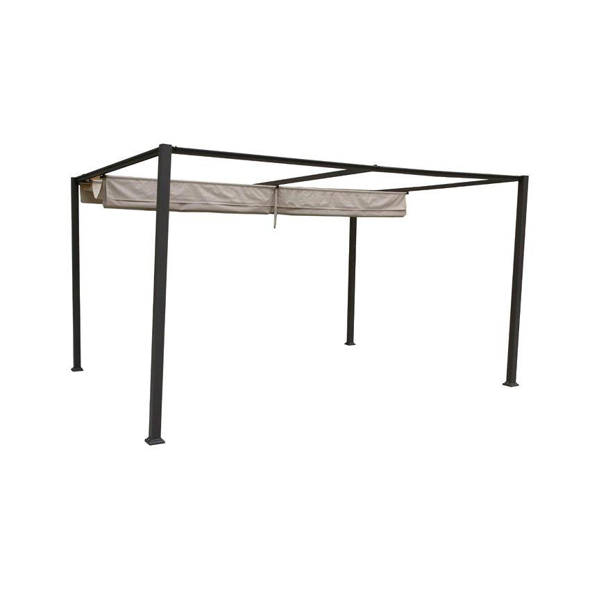 toile de tonnelle palmeira 3 x 4 m sable structure. Black Bedroom Furniture Sets. Home Design Ideas