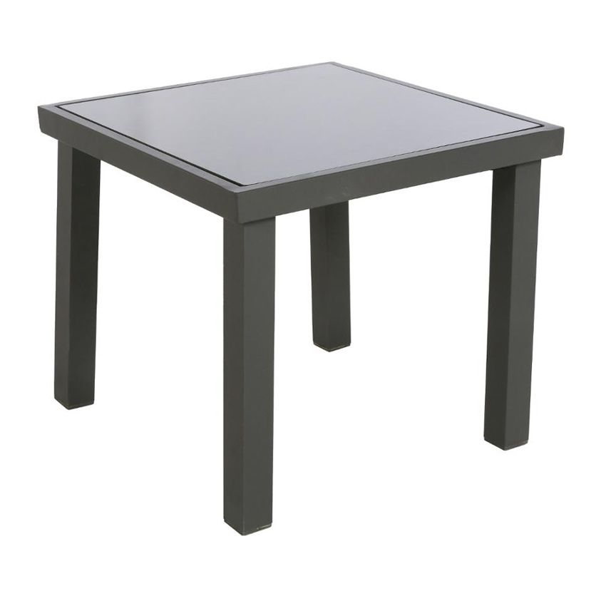 table d 39 appoint piazza anthracite meuble d 39 appoint eminza. Black Bedroom Furniture Sets. Home Design Ideas