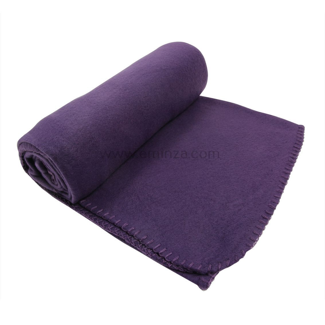 plaid polaire 160 cm melys violet plaid cocooning eminza. Black Bedroom Furniture Sets. Home Design Ideas