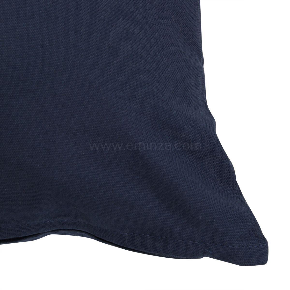 coussin 40 cm etna bleu marine coussin et housse de coussin eminza. Black Bedroom Furniture Sets. Home Design Ideas
