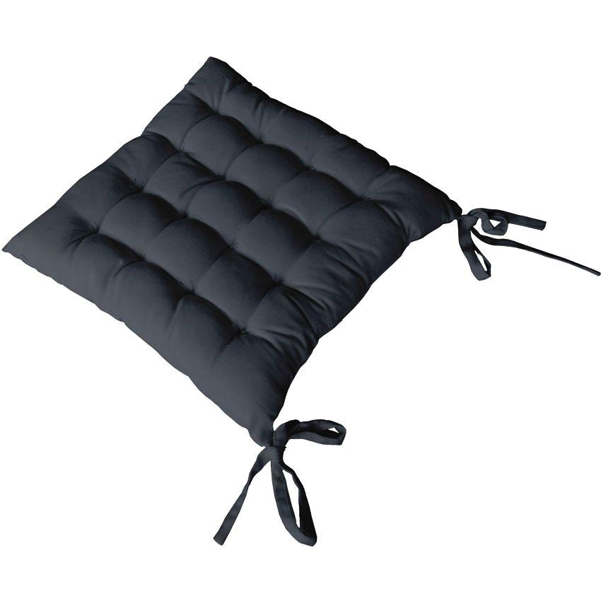 Coussin de chaise etna anthracite galette et coussin de for Galette de chaise rectangulaire
