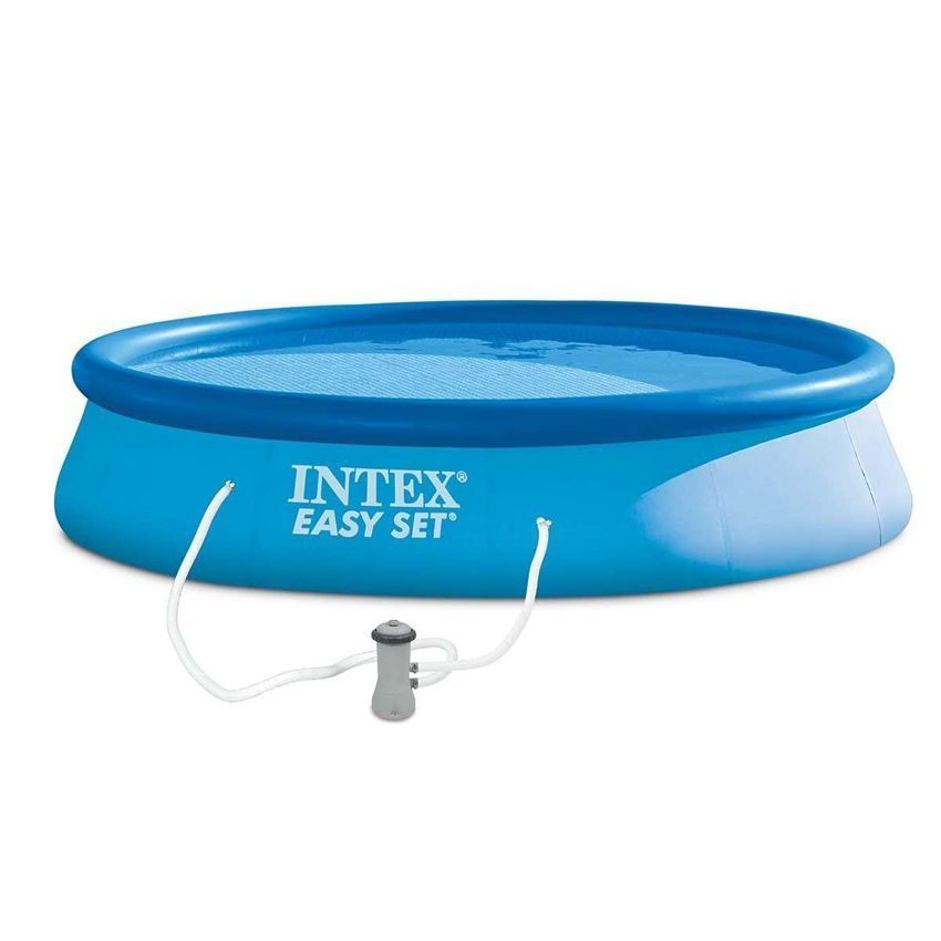 Piscine autostable easy set 3 96 x h 0 84 m intex for Piscine gonflable intex easy set