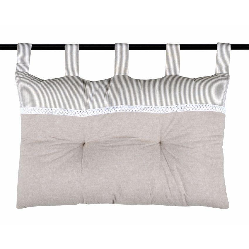 t te de lit ang le 70 cm lin t te de lit eminza. Black Bedroom Furniture Sets. Home Design Ideas