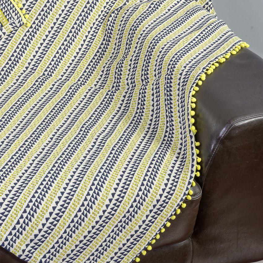 Jet de canap 170 cm ricardo jaune jet de canap for Jete de canape jaune