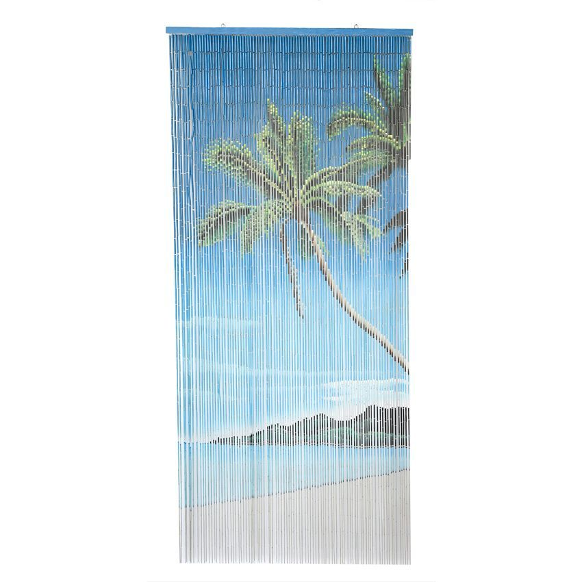 rideau de porte 90 x 200 cm stick bambou lagoon bleu rideau de porte eminza. Black Bedroom Furniture Sets. Home Design Ideas