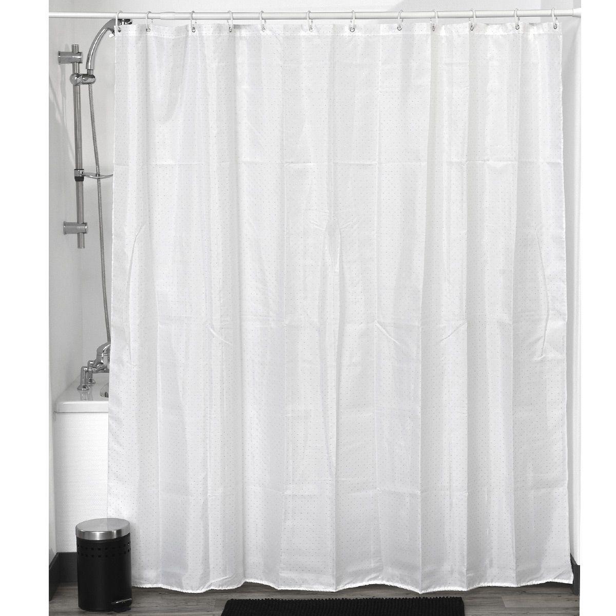 rideau de douche strass blanc with barre rideau sans clou ni vis. Black Bedroom Furniture Sets. Home Design Ideas