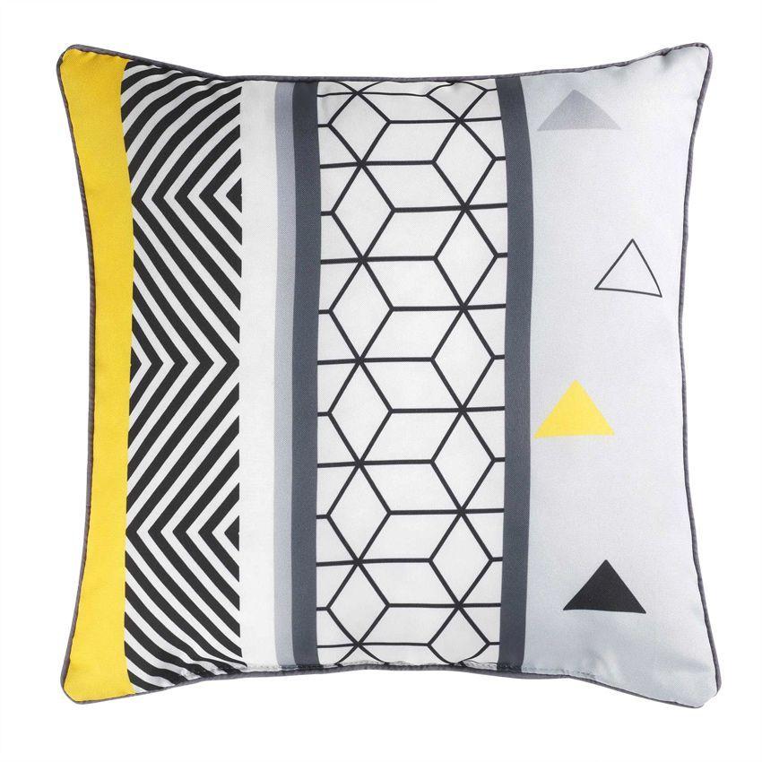 coussin imprim yellow mix coussin et housse de coussin eminza. Black Bedroom Furniture Sets. Home Design Ideas