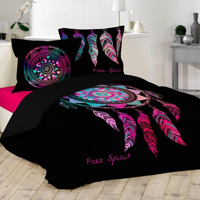 housse de couette et deux taies 260 cm porte bonheur housse de couette eminza. Black Bedroom Furniture Sets. Home Design Ideas
