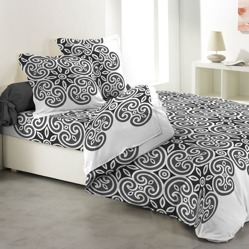 parure de draps 4 pi ces sofia parure de draps eminza. Black Bedroom Furniture Sets. Home Design Ideas