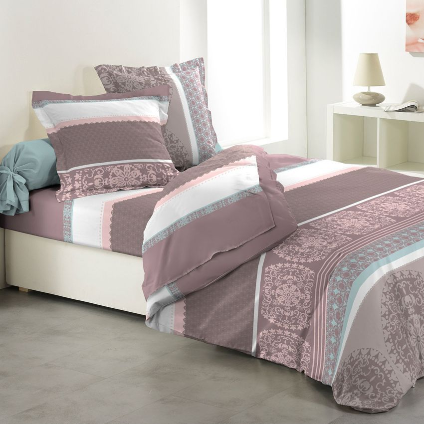 parure de draps 4 pi ces actua parure de draps eminza. Black Bedroom Furniture Sets. Home Design Ideas