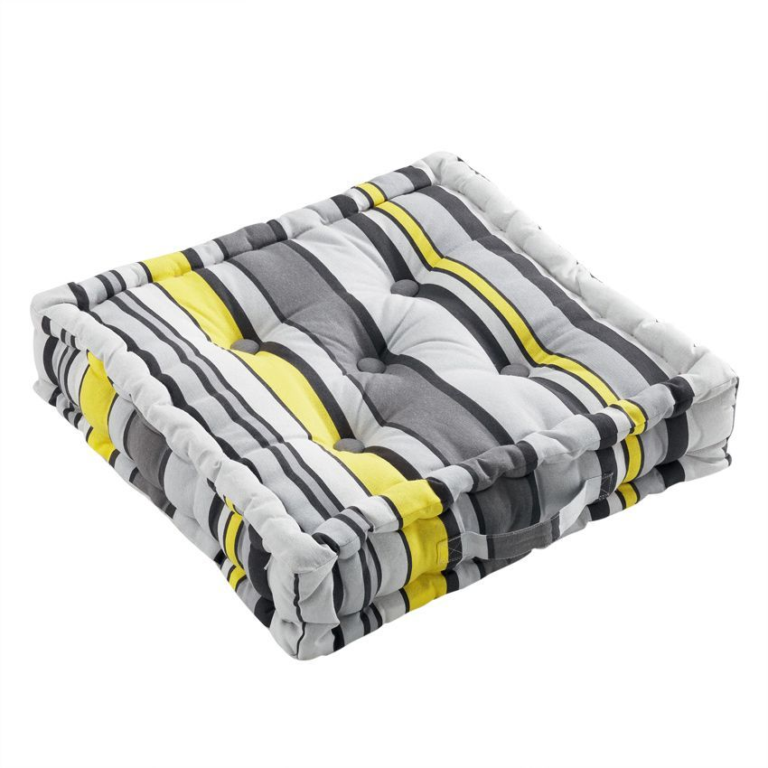 coussin de sol 45 cm marina jaune coussin de sol et pouf eminza. Black Bedroom Furniture Sets. Home Design Ideas