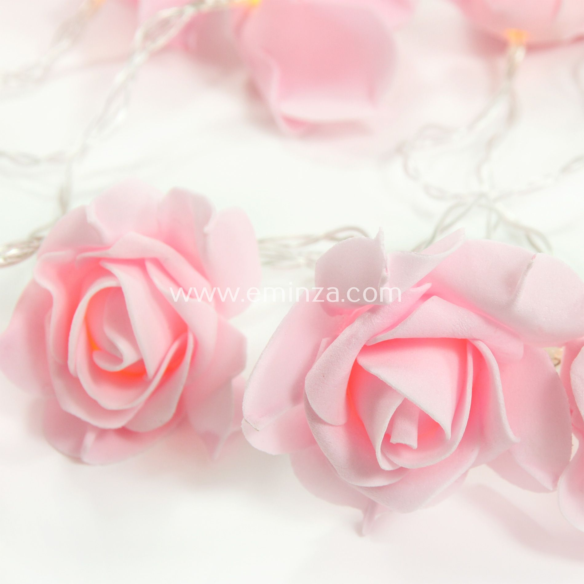 guirlande lumineuse rose blanc chaud 15 led guirlande. Black Bedroom Furniture Sets. Home Design Ideas