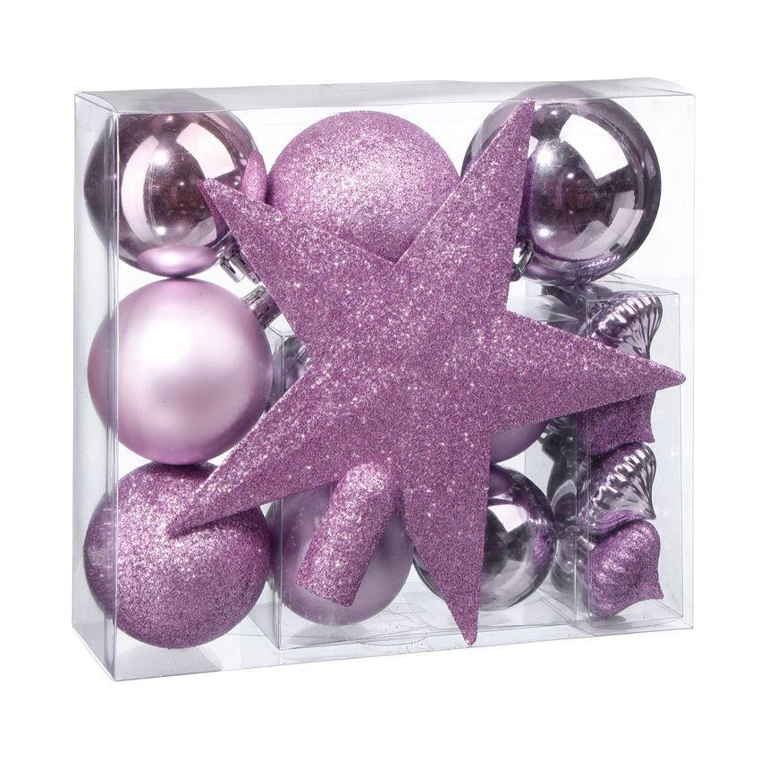 Decoration de sapin + Violet - Eminza