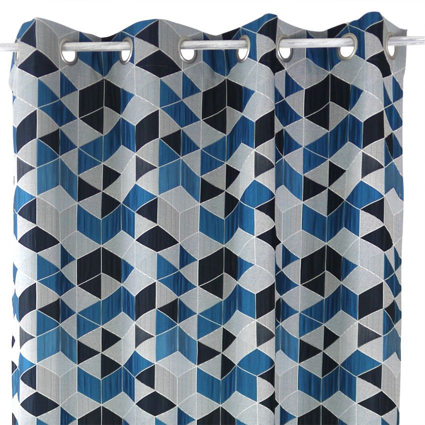 rideau tamisant 135 x 240 cm arletty bleu rideau tamisant eminza. Black Bedroom Furniture Sets. Home Design Ideas